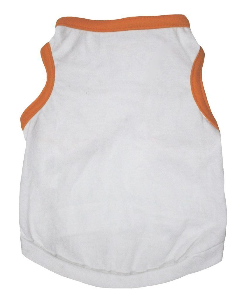 8d424a92d9eb Petitebella Pet Supply White and Orange Cotton T-Shirt Dog Dress for  Halloween ** You can get more details by clicking on the image.