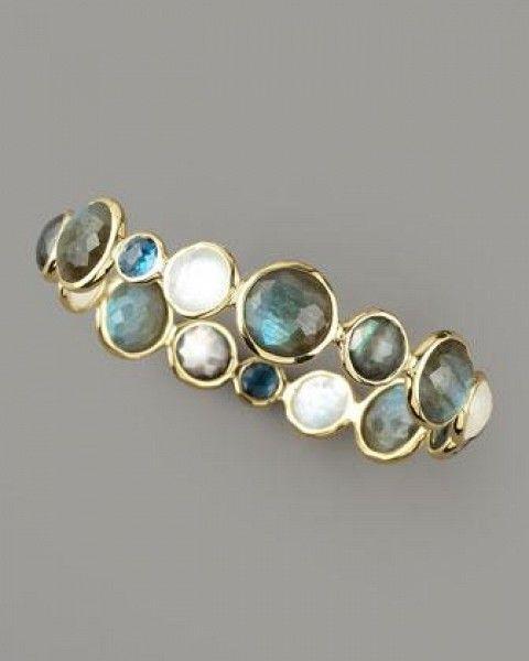 Ippolita Faceted Multi-Stone Bangle #jewelry