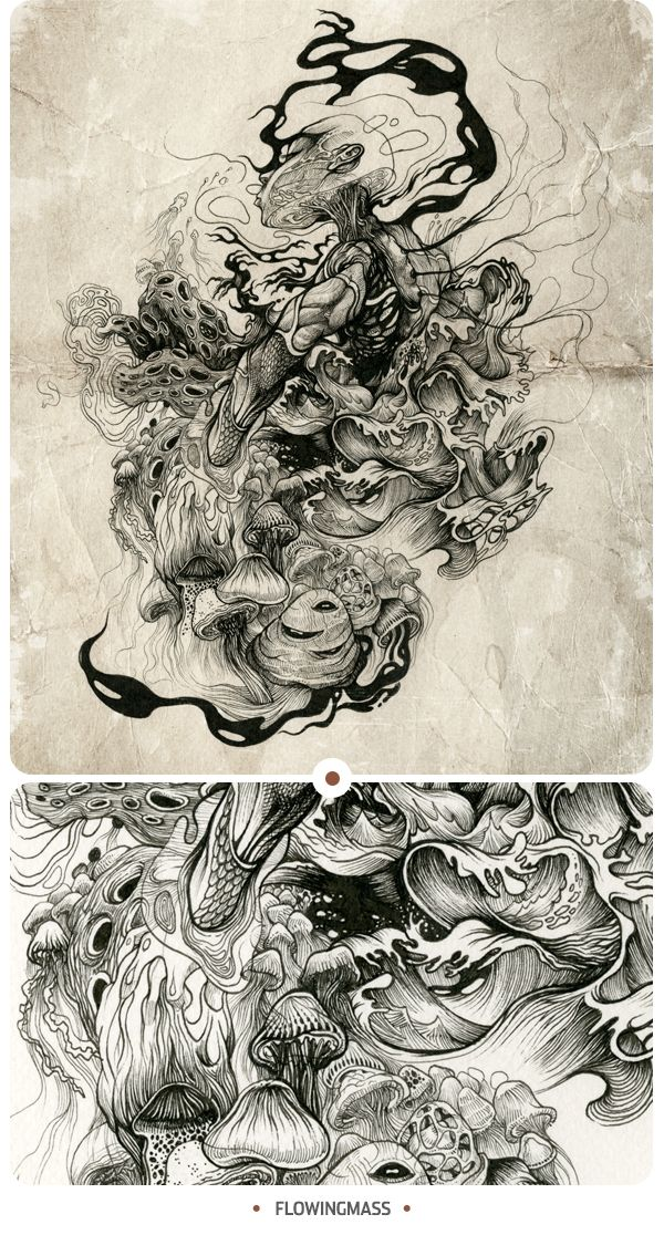 INKSTINCTIVE II by DZO Olivier, via Behance. Beautiful detail and excellent movement.