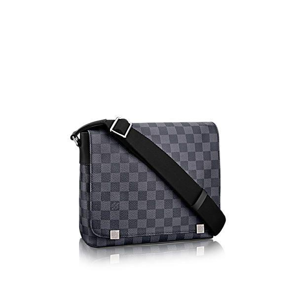 LOUIS VUITTON DISTRICT PM.  louisvuitton  bags  shoulder bags  leather   canvas  lining  metallic   072e1bb351b