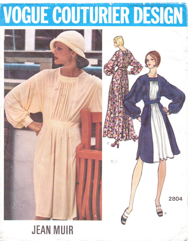 024090a5966 1970s Jean Muir dress pattern Vogue 2804