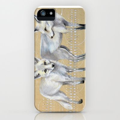 foxes iPhone & iPod Case by Ashley White Jacobsen - $35.00 2 gray foxes