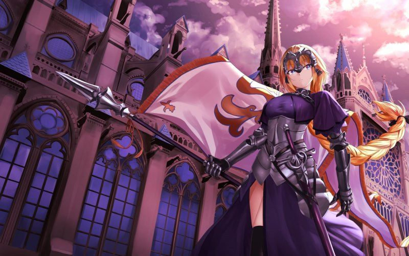 Wallpaper Jeanne D Arc Ponytail Fate Grand Order Blonde Character Wallpaper Anime Characters Fate