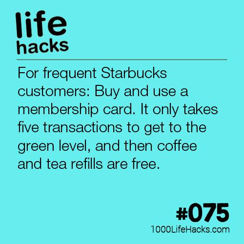 Starbucks Membership Card Hack  Life Hacks   Life