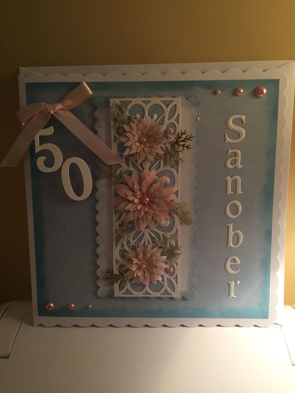 Happy 50th Birthday Card For Lady (With images) 50th
