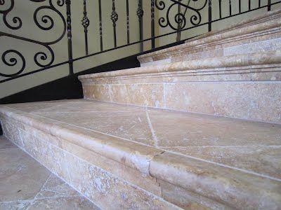 Travertine Staircase.
