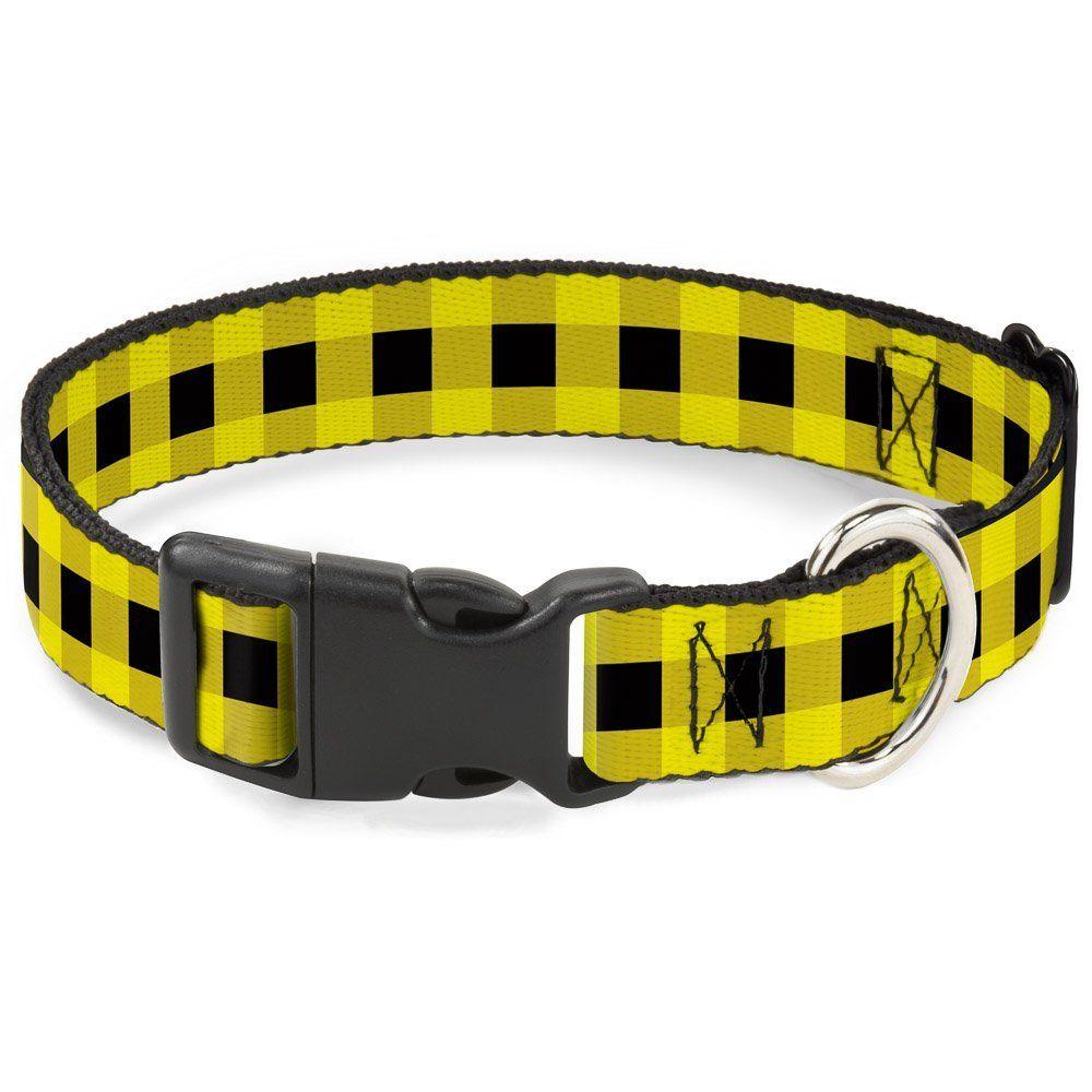 Buckle-Down PC-W30239-L Buffalo Plaid Black/Neon Yellow