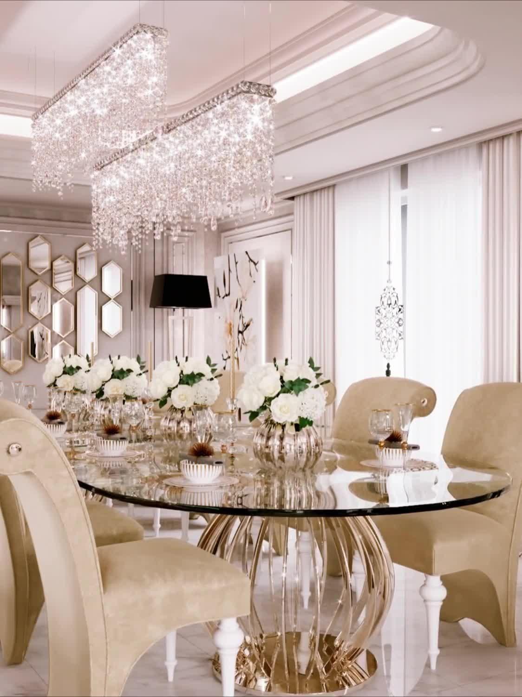 Classic Interior Design Dubai In 2020 Dining Room Interiors Luxury House Interior Design Family Dining Rooms
