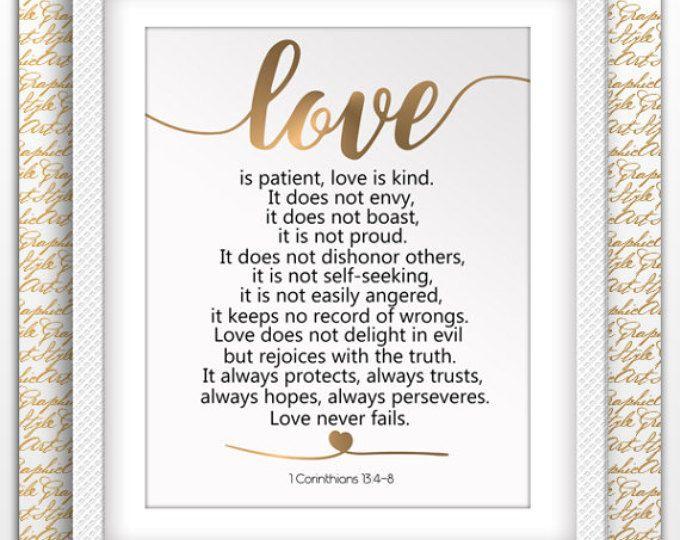 Liebe Ist Geduldig Liebe Art Kunst 1 Korinther 134 8