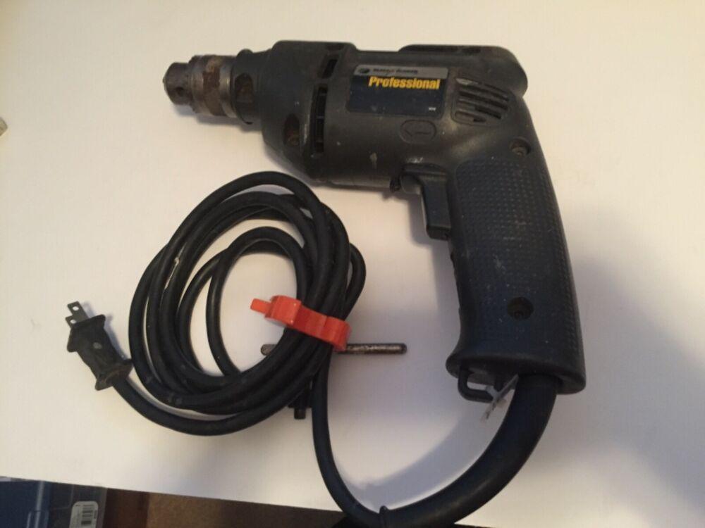 Vintage Black And Decker Professional Corded Drill 3 8 Vsr Hologun Model 1166 Blackdecker Corded Drill Black Decker Drill
