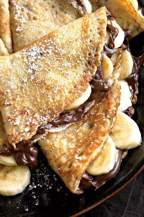 Easiest Homemade Banana-Nutella Crepe