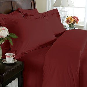 Solid Burgundy Cal King 550 Thread Count Sheet Set 100 % Egyptian Cotton with Deep Pocket By Sheetsnthings
