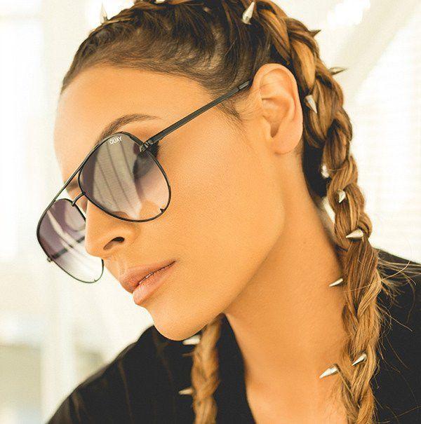 a0aa28172297 Quay x Desi Perkins High Key Black   Fade Sunglasses