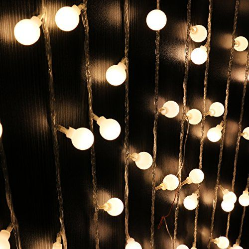 Ball String Lights,Mulcolor 100 LED Globe Fairy Lights Christmas Lights For  Garden Patio Party And Holiday Lighting Modes (Warm White ) *** See This  Awesome ...