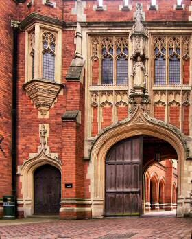 """Eton College, Windsor, Berkshire.  Eton was founded in 1440 as the """"King's College of Our Lady of Eton besides Wyndsor"""" by Henry VI to provide a free education for """"70 poor scholars"""" who would then go on to King's College Cambridge, founded by Henry the following year."""