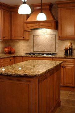 Kitchen Backsplashes with Maple Cabinets | Maple Dream ... on Backsplash For Maple Cabinets  id=62881