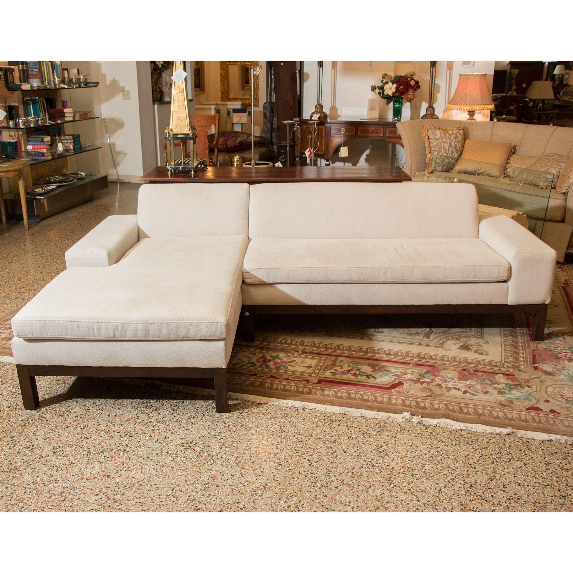 WEST ELM Lorimer Sectional in Monaco Linen Upholstery | Designer ...