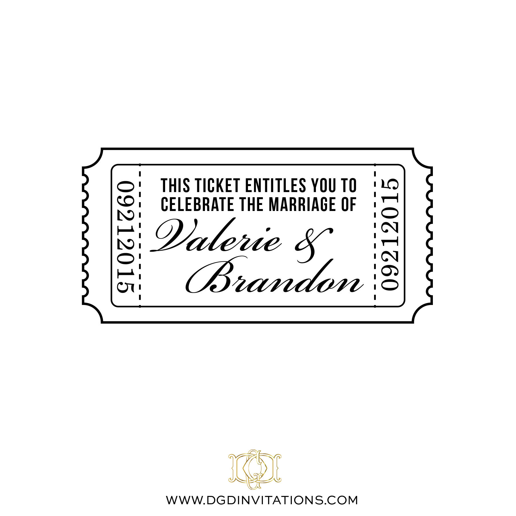 Wedding Rubber Stamp Customized Ticket Celebrate Marriage Save The ...