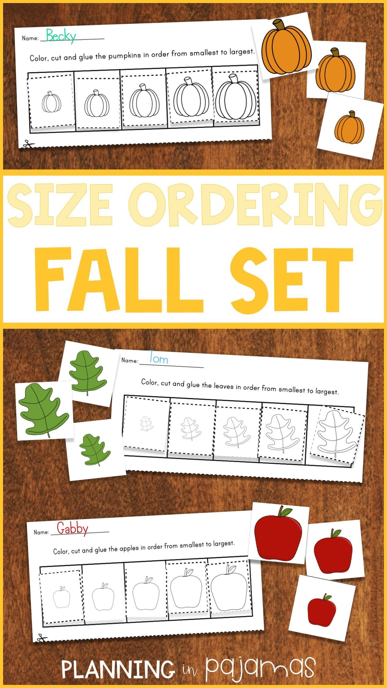 Fall Size Ordering From Smallest To Largest Apples