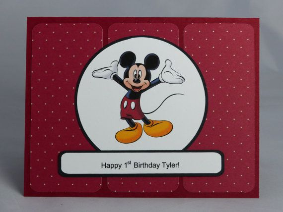 This Is A Custom Made Mickey Mouse Birthday Card Personalized For Someone