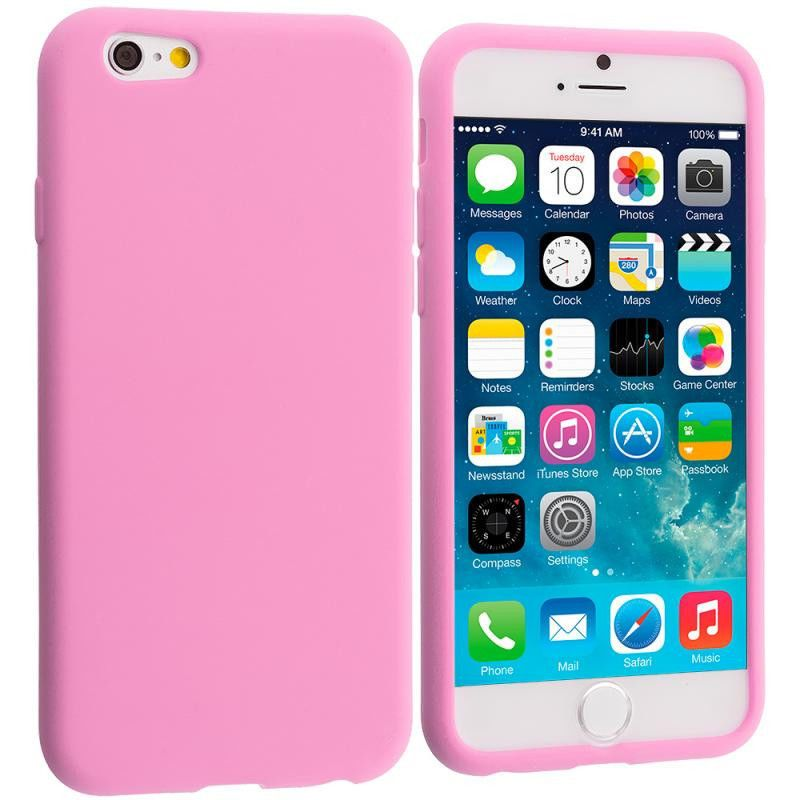 huge discount 1315c a4bd6 Light Pink Silicone Soft Skin Rubber Case Cover for Apple iPhone 6 ...
