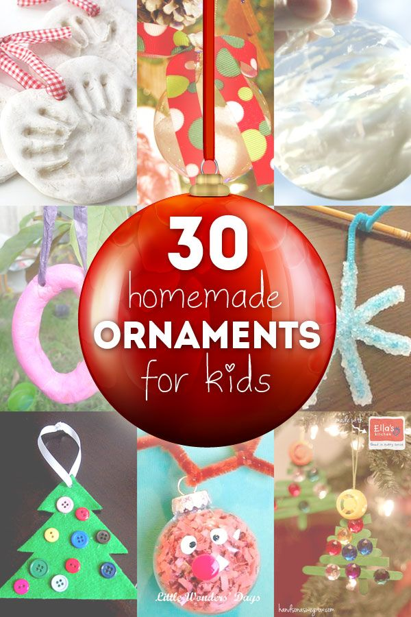 30 Homemade Ornaments for the Kids Ornament, Homemade and 30th