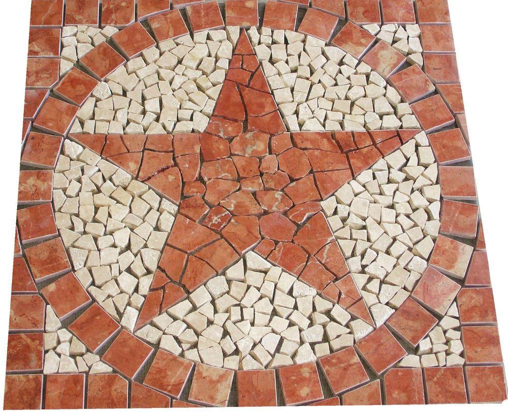 24 sq rojo red marble texas star mosaic tile medallion floor 24 sq rojo red marble texas star mosaic tile medallion floor backsplash design jdyerhandcrafted dailygadgetfo Choice Image