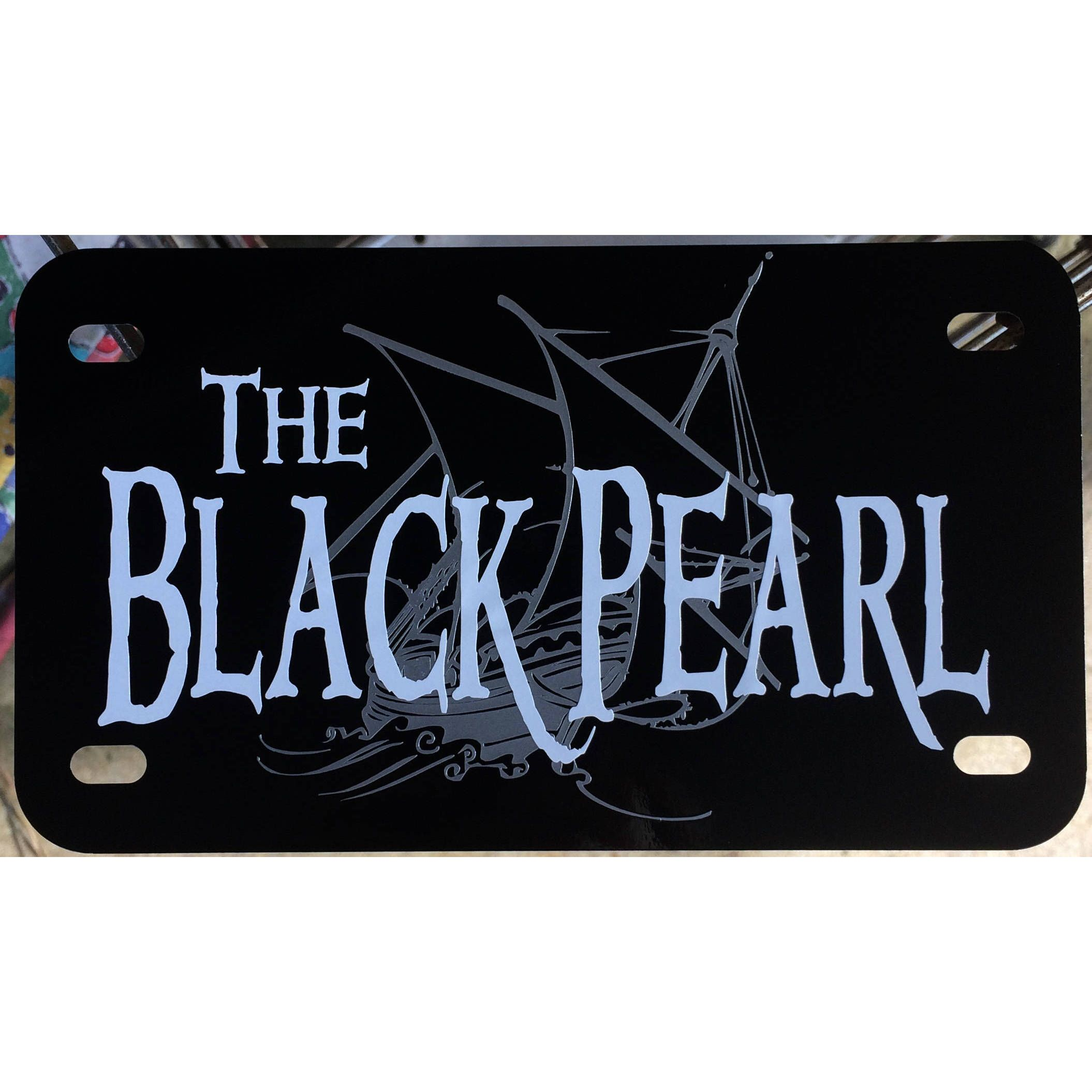 Motorcycle Pirates Of The Caribbean License Plate Black Pearl