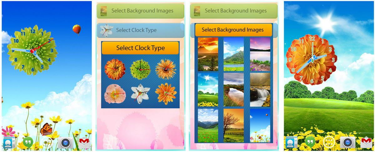 Flower clock live wallpaper for android app free download images4 flower clock live wallpaper for android app free download images4 clock flower pinterest live wallpapers clocks and android voltagebd Gallery