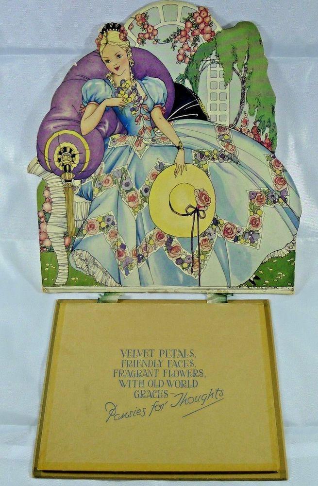 1939 Anne Rochester Wall Calendar Art Deco Lady Valentine Sons Ltd ...