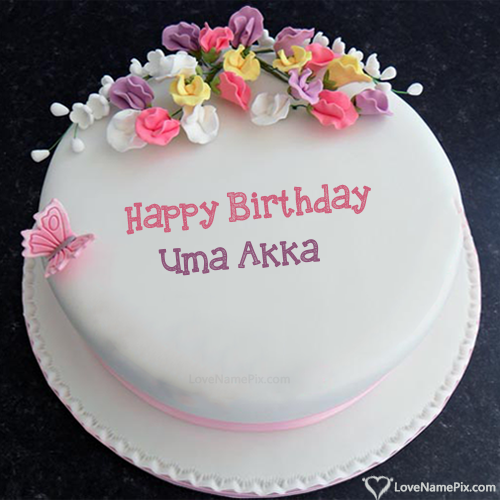 Uma Akka Name Picture Birthday Cake Images With Wishes In 2020