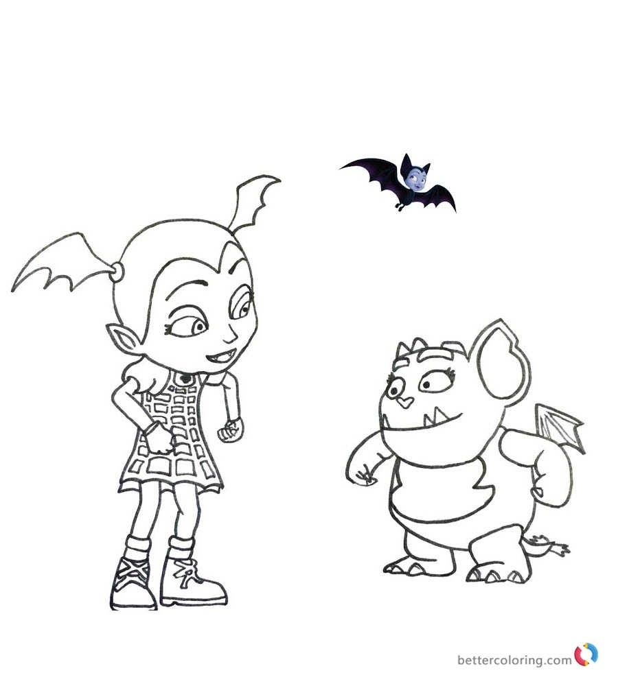 Vampirina And Poppy Coloring Page Poppy Coloring Page Coloring Pages For Boys Coloring Pages