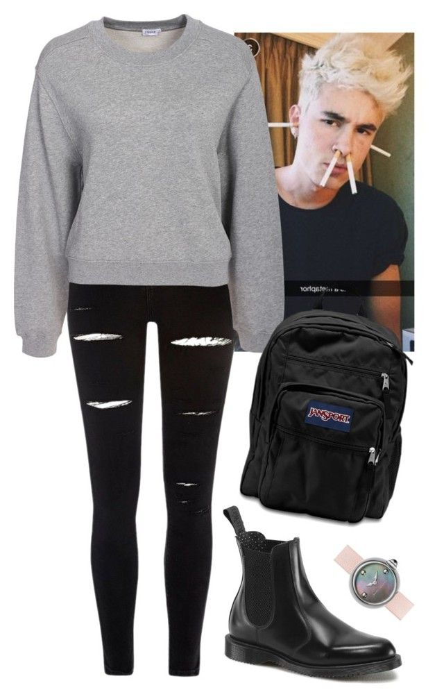 Road trip w/ Kian by baeisme on Polyvore featuring polyvore fashion style Filippa K River Island Dr. Martens JanSport Marc Jacobs clothing