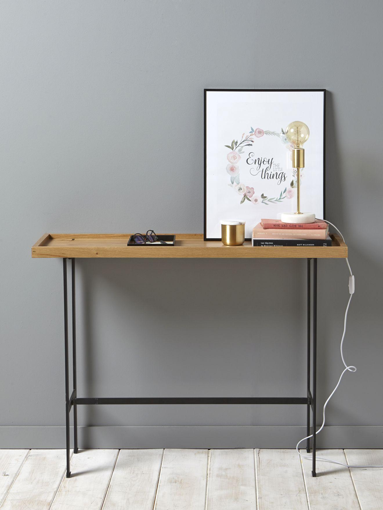 Console bois et métal Déco Pinterest