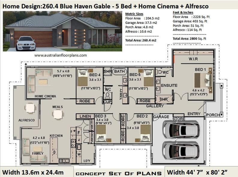 Pleasing 5 Bedroom Home Designs Australia