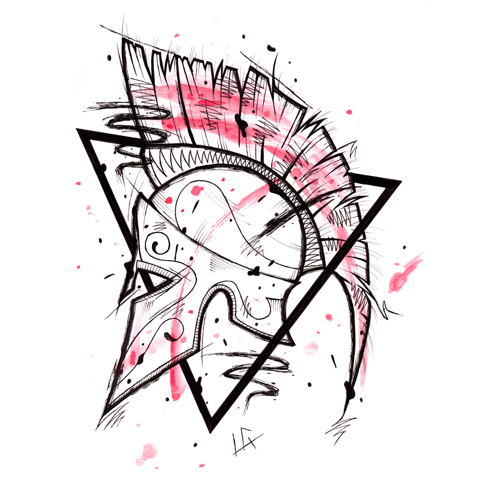 Spartan Helmet Handmade Drawing Made In Pencil And Ink Tattoo Sketch Tattoo Flash Blackwork Art Print By Lucage In 2020 Tattoo Sketches Spartan Tattoo Flash Tattoo