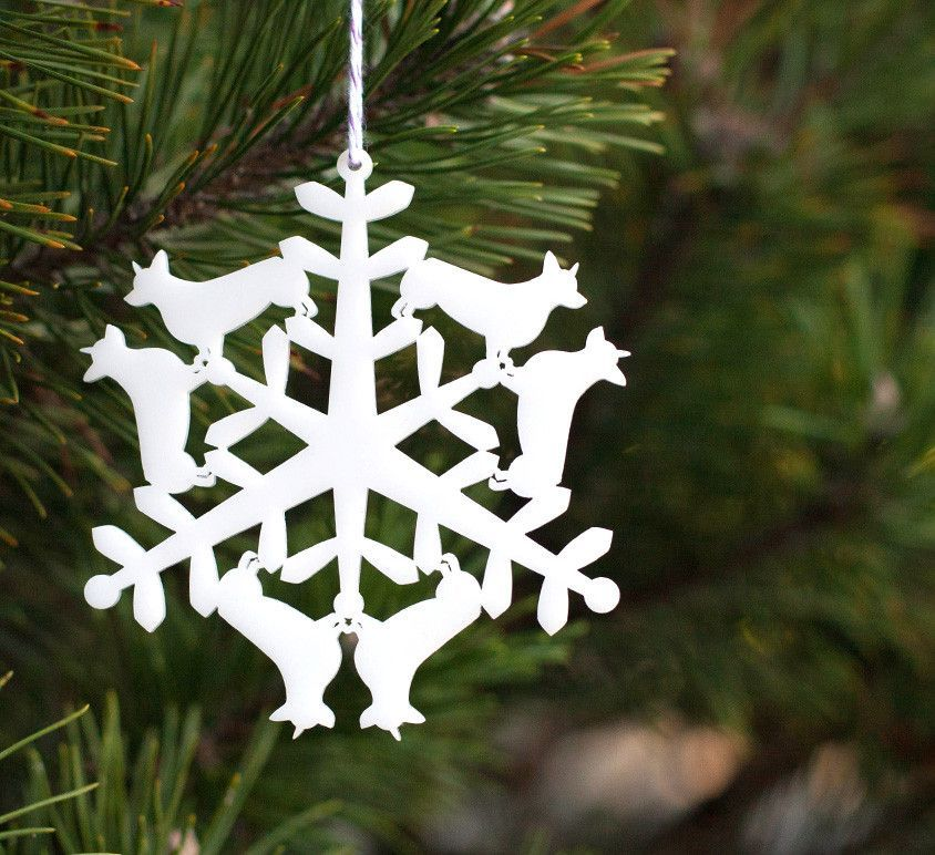 Christmas Tree Ornament Corgi Snowflake Christmas Ornament Template Christmas Tree Ornaments Christmas Ornaments