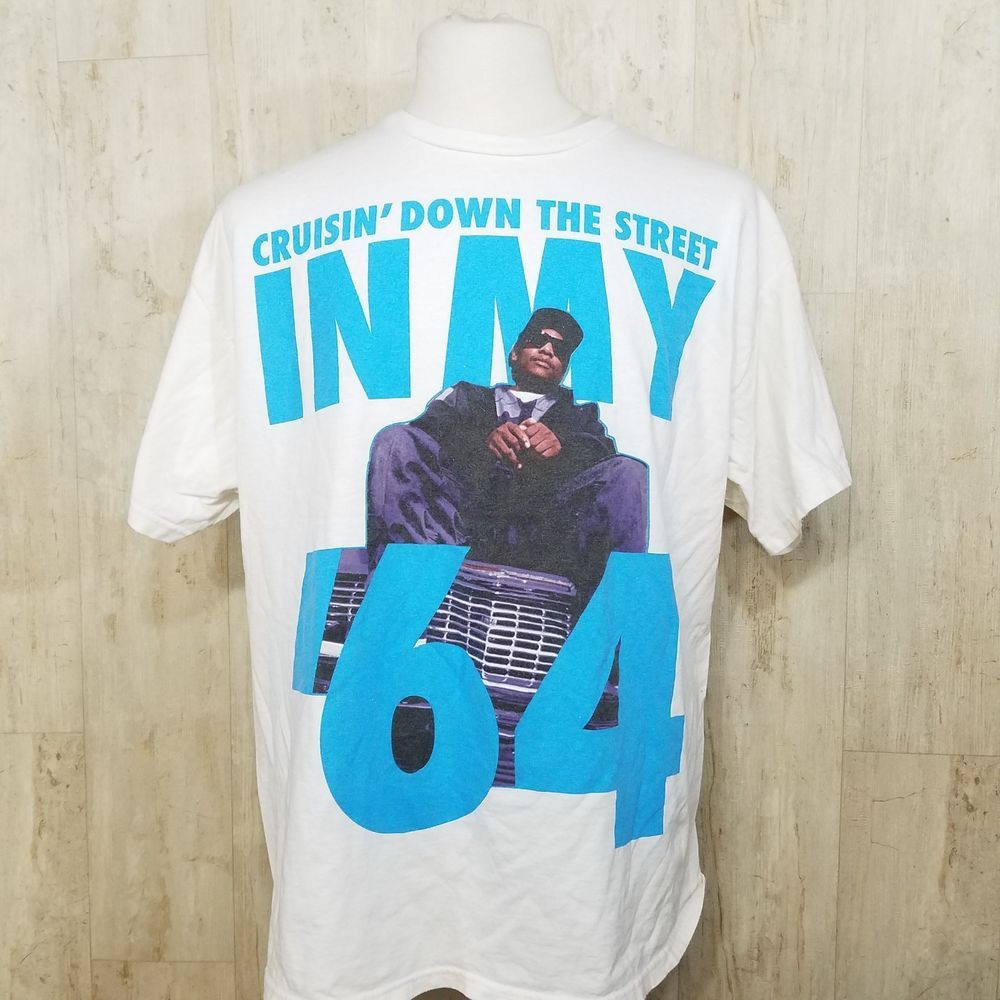 Eazy E Mens Cruisin Down The Street Slim-Fit T-Shirt
