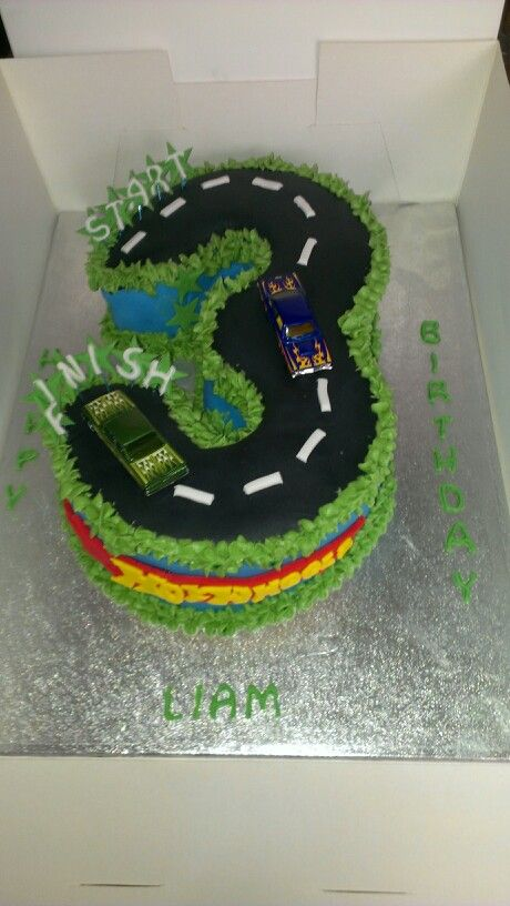 Kiddies fun number cake