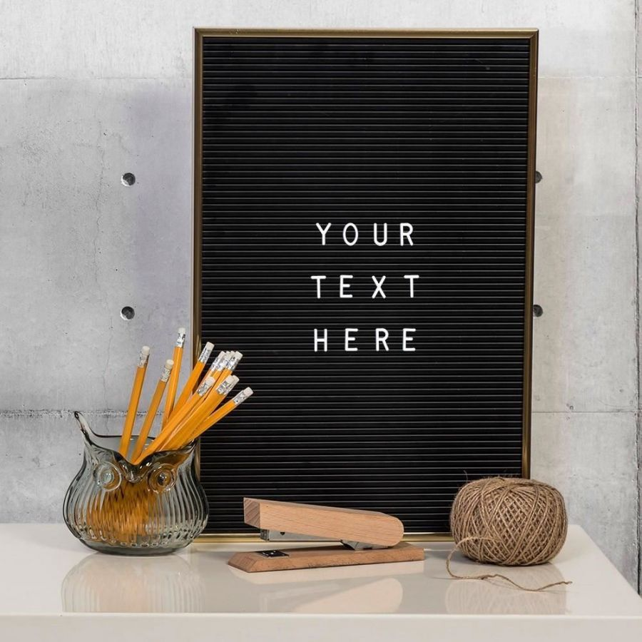Stylish and tactile, the Letter Board is perfect for any