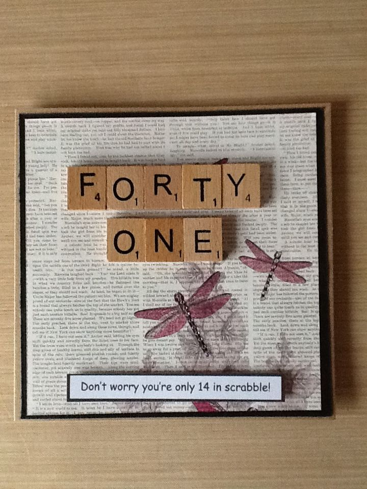 Scrabble Birthday Card Cards By Shelf Pinterest Scrabble And Cards