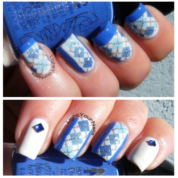 $1.49 1Sheet Shimmer Plaid Pattern Nail Art Water Decals Transfers Sticker #F008/F019 - BornPrettyStore.com