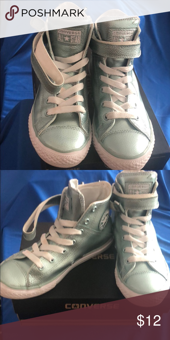 865c2b16a0a9 Converse All Star Chuck Taylor s Barely worn Chuck Taylor Hi-Top Style Brea  Color Metallic Glacier Youth size  3 us Converse Shoes Sneakers