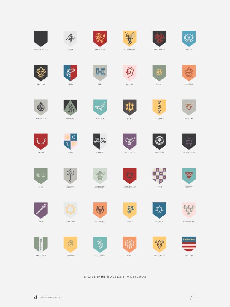 Interesante escudos de las casas de juego de tronos - Juego de tronos casas ...