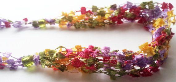 Crochet Necklace by FinalTouchDesign on Etsy, $28.00
