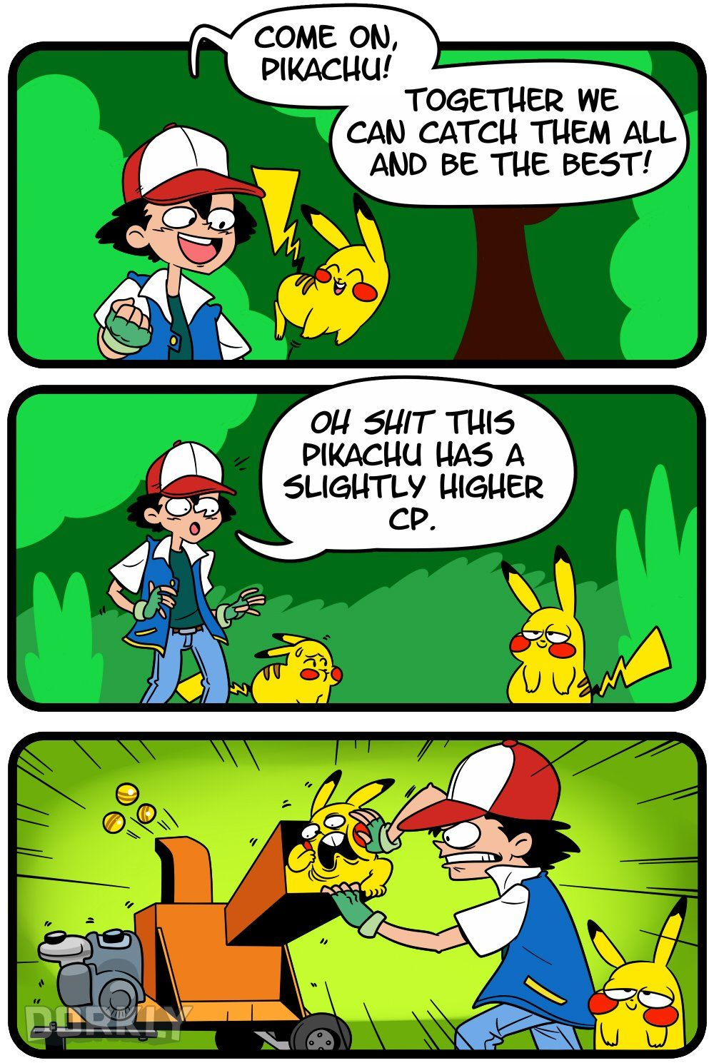 If the pokemon anime was based off pokemon go pikachu