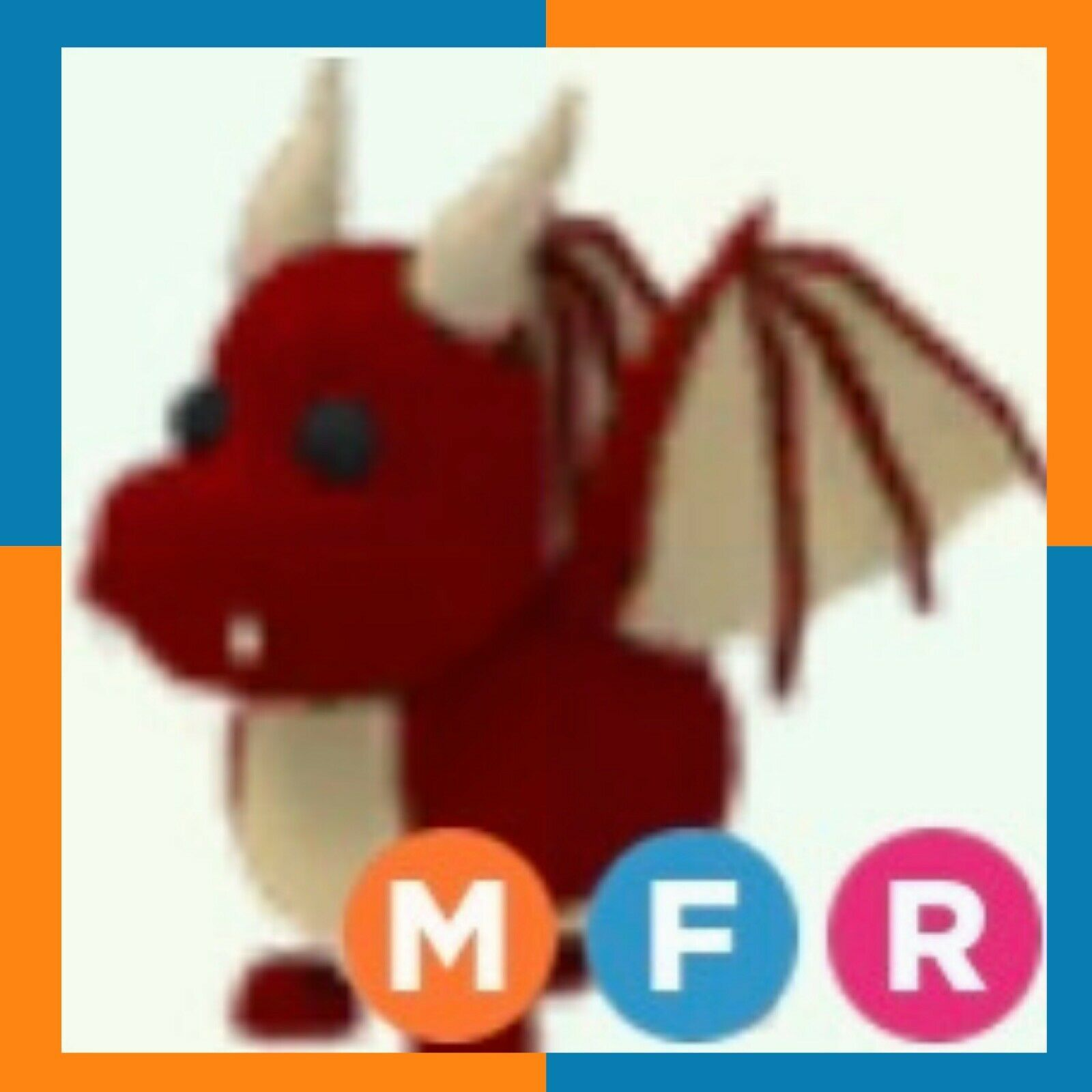 Mega Neon Red Dragonrobloxadopt Mefly/ride Free With