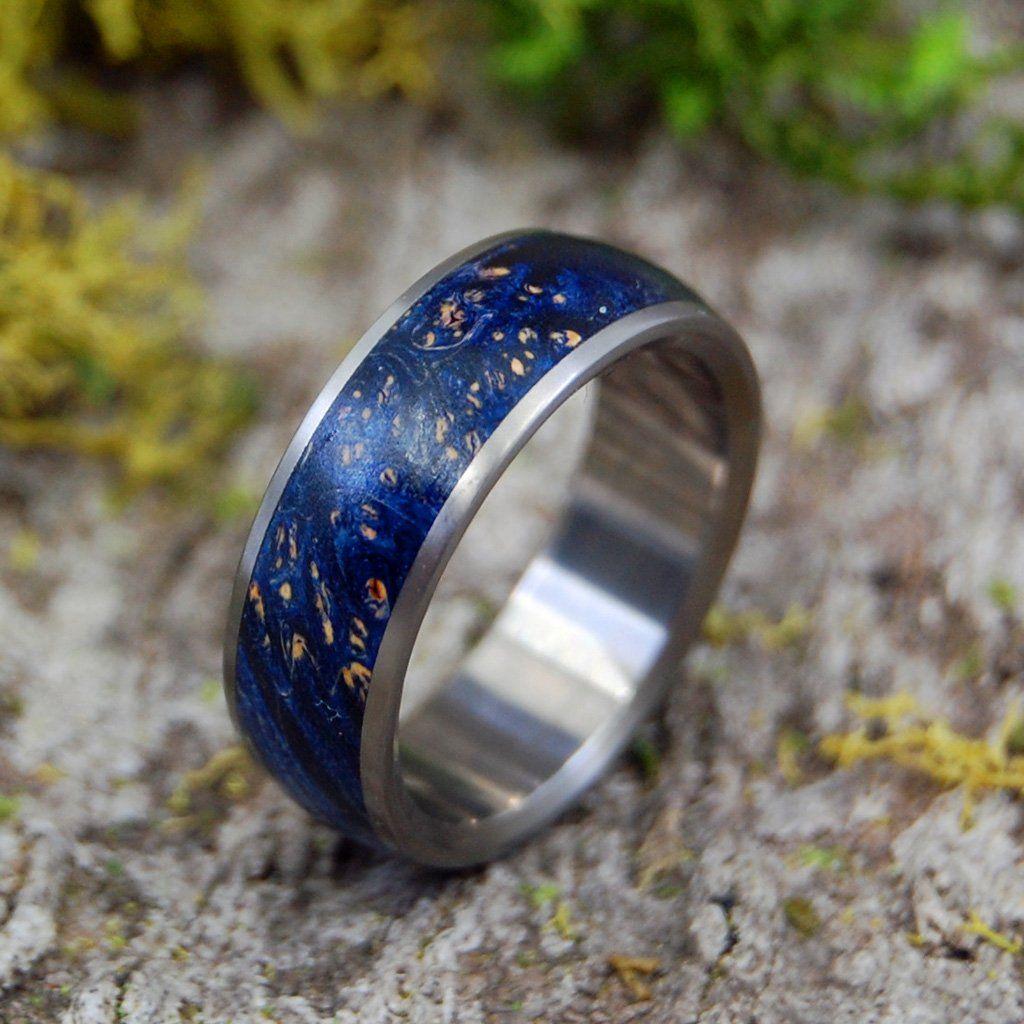 Titanium Wedding Rings STOCK SALE TE AMO BLUE BOX