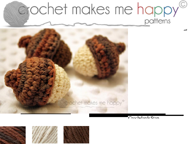The Acorn [ Free Crochet Pattern ]