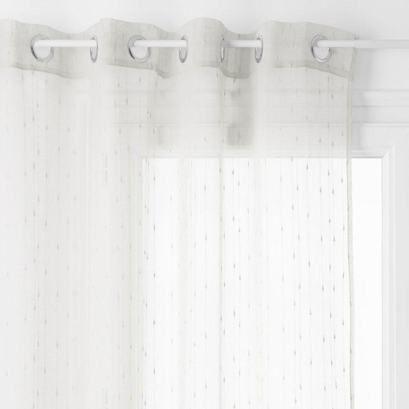 Voilage Anissa 140 X 240 Cm Ivoire 511573 Curtains Shower